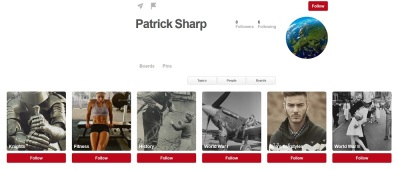 Patrick Sharp pinterest