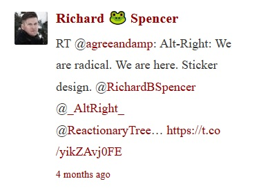 richard spencer retweets agreeandamp sticker design