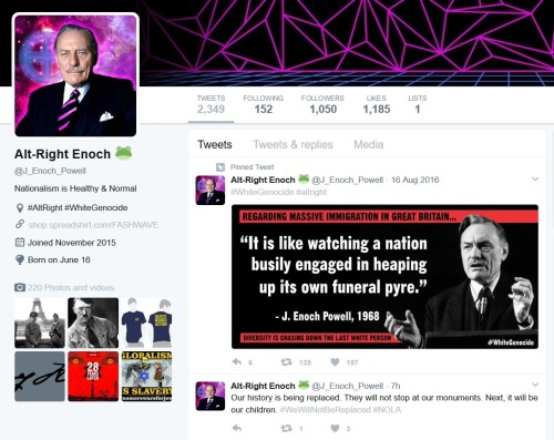 Alt-Right Enoch twitter profile