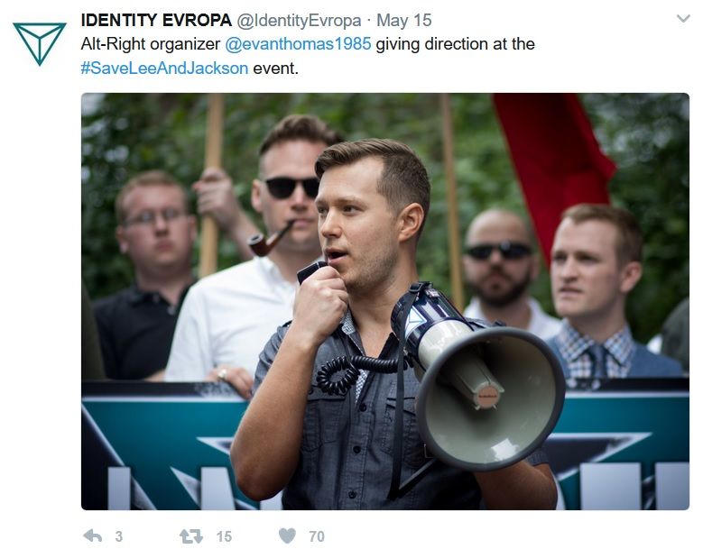 evan thomas charlottesville VA may 2017 from identity evropa