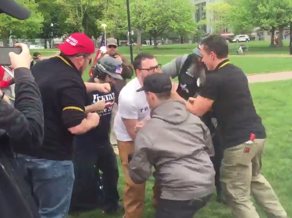 proud boys initiation may 13 2017 boston MA