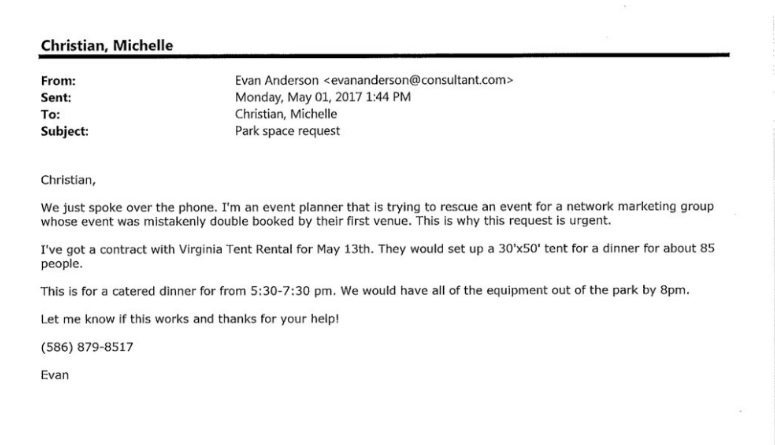 Charlottesville Evan Anderson May email