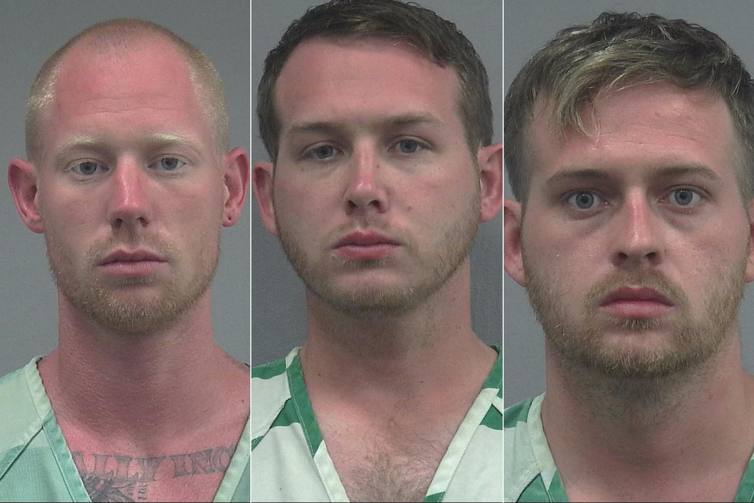 three arrestees
