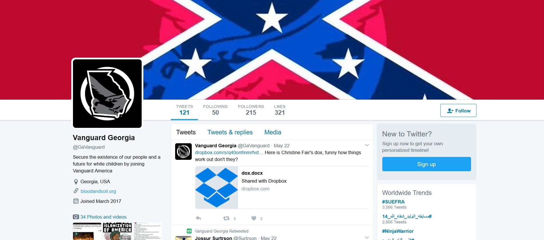 vanguard georgia twitter screencap 2017