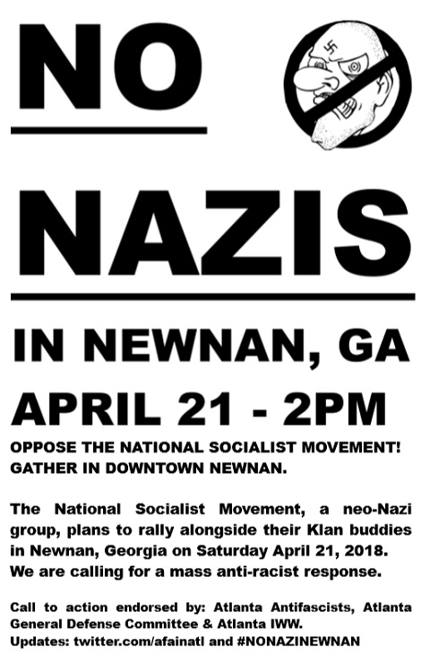 no nazis in newnan
