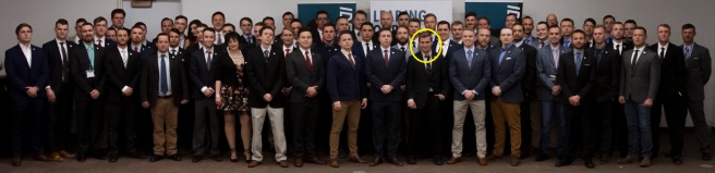 Identity Evropa 2018 conference cooper circled