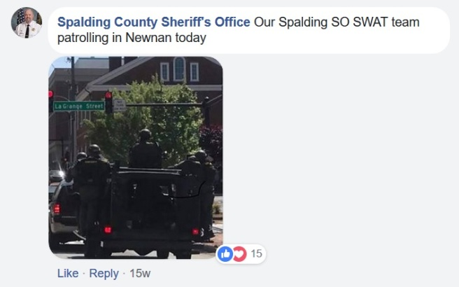 spalding SO SWAT newnan april 21 2018